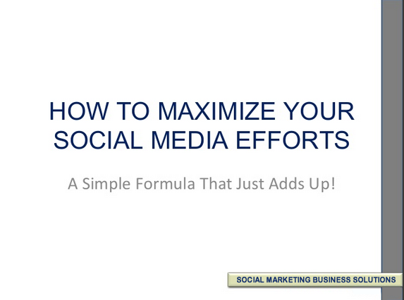 A Social Media Formula That Really Works